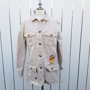 Disney Store Jacket Embroidered Winnie The Pooh